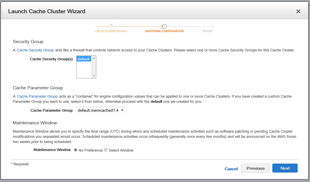 Scout cloud aws add memcached additional configuration.png