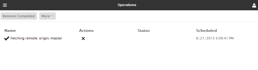 Operations page