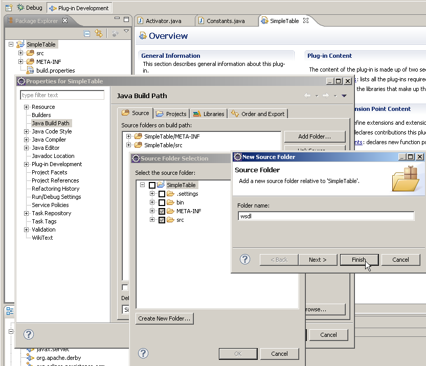 EclipseLink DBWS with OSGi NewFolders.png