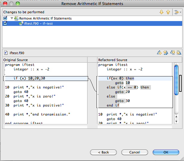 Example of the Remove Arithmetic If Statement refactoring.
