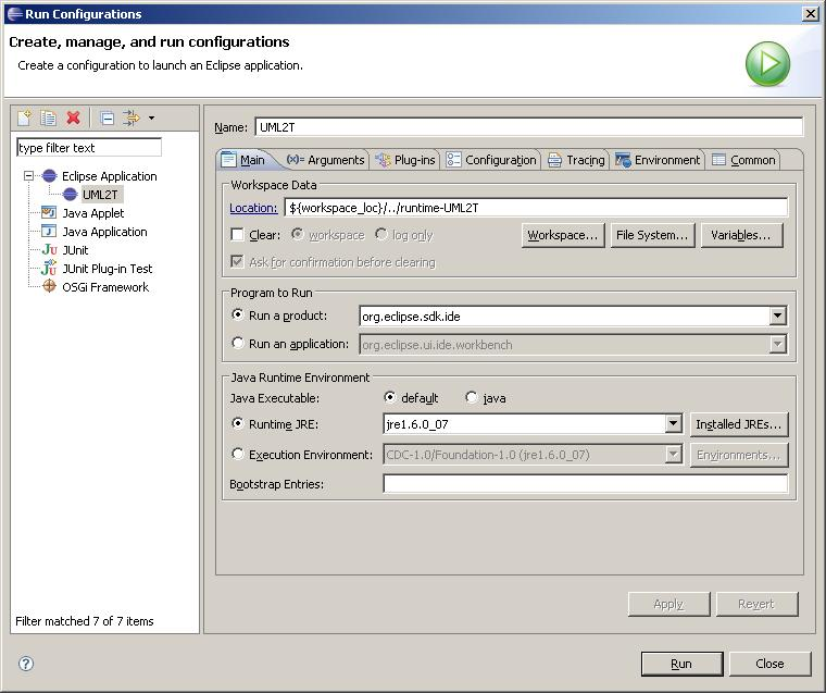 Image:UML2Tools_Run_Eclipse_Application.JPG