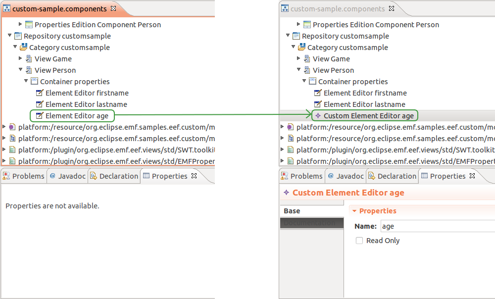 CustomElementEditor in views model