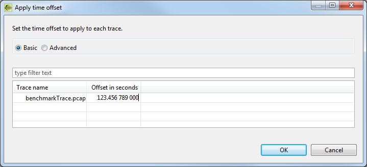 Apply Time Offset dialog - Basic mode - filled