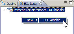 The EGL Data view