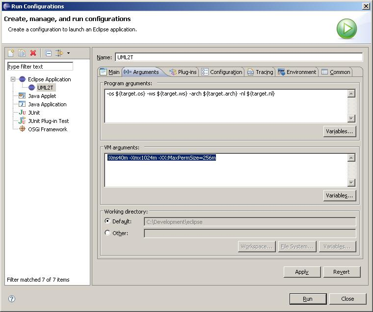 Image:UML2Tools_Run_Eclipse_Application_VM_Parameters.JPG