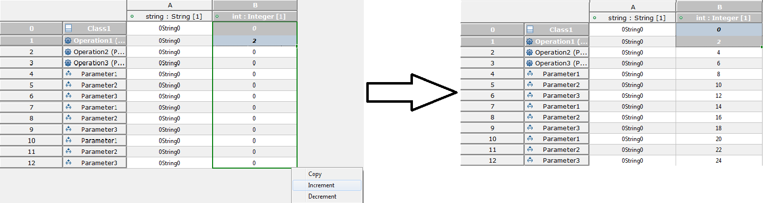Fill Increment Number when two selected cells