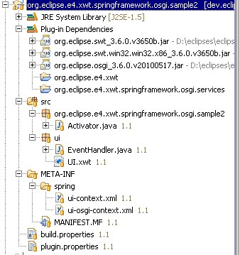 SpringCLRFactory workspace osgi sample2.png