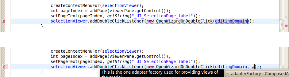 Add adapterFactory to OpenWizard listener constructor