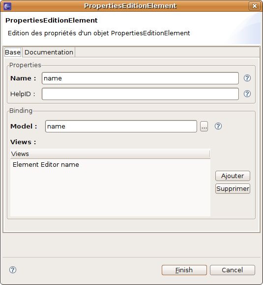 Sample of JFace wizard integrating a component generated with EEF