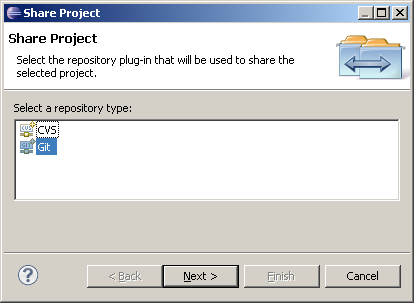 select repository git