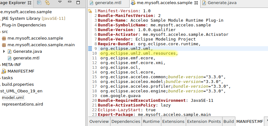 Getting started acceleo module add UMLres dependency.png