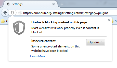 Mixed content blocking in Firefox