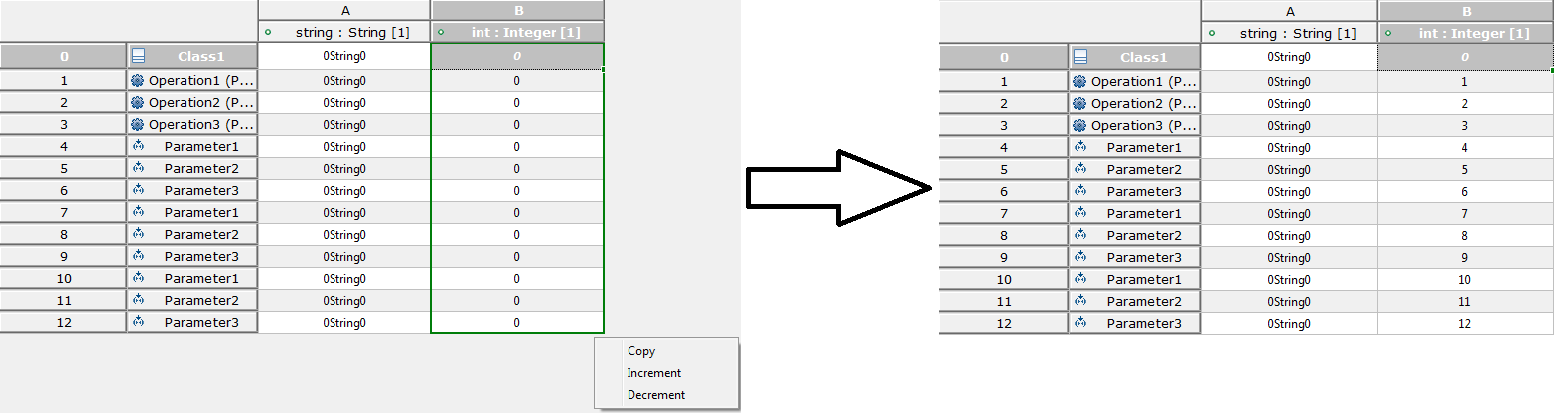 Fill Increment Number when one selected cell