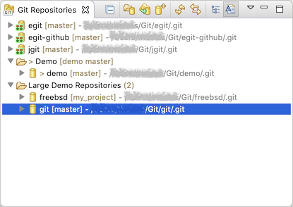 """Repositories view showing some repository groups"""