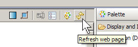 The refresh button shows two yellow arrows.