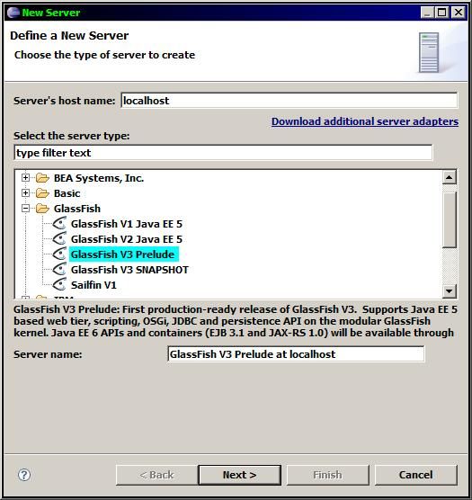 Glassfish prelude new server use snapshot.JPG