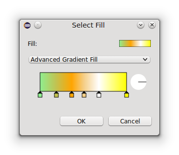 The FXAdvancedGradientPicker embedded into a property edit dialog.