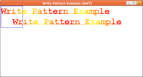 Write Pattern Example (AWT)