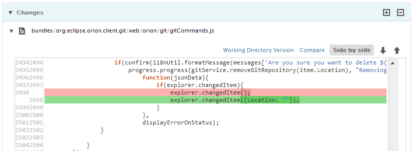 Git commit diff