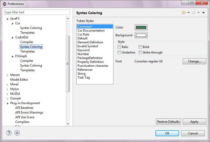 Preferences JavaFX CSSExtDsl Syntax Coloring.png