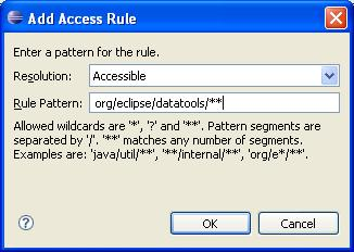 Build path page add access rule.JPG
