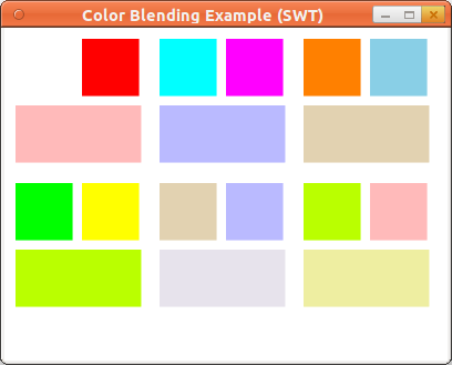 Color Blend Example (SWT)