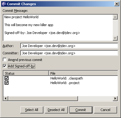 commit changes egit eclipse