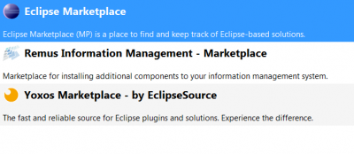 Picture 3:Select Remus Marketplace to install information types and connectors