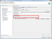 OSGi Framework run configuration, Settings tab