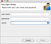 Login dialog Remote Eclipse RCP Management prototype