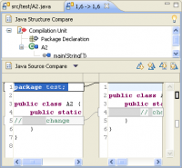 Java structure in Compare editor opened for a hunk (work in progress)