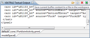 Saving the contents of the output buffer