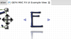 Creation menu integrated in GEF4 MVC Logo example