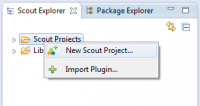Choose new Scout Project
