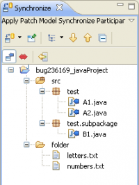 Java model when applying patch in Sync view (work in progress)