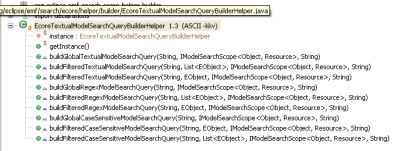 Ecore Textual Model Search Query Builder Helper