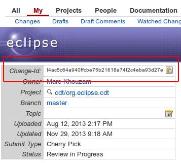 CDT/git - Eclipsepedia