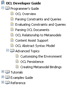 OCL Programmer's Guide Topics