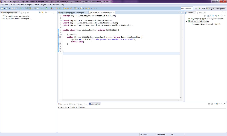 Papyrus Codegen Adding A New Code Generator Eclipsepedia