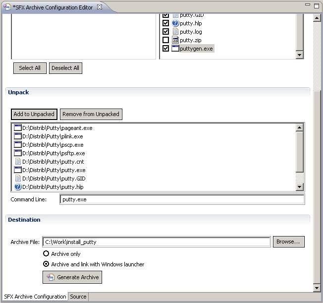 Installer SFX creation UI - Eclipsepedia