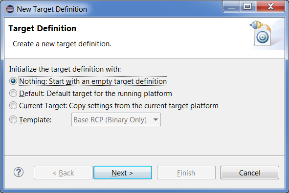 Oomph PDE Create Empty Target Definition.png