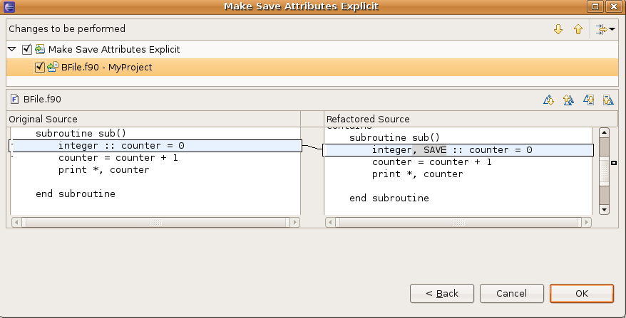 Example of the Make Save Attributes Explicit refactoring