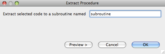Extract Procedure dialog