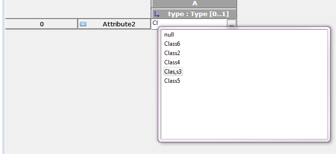 Editing the Type of a Property in Table
