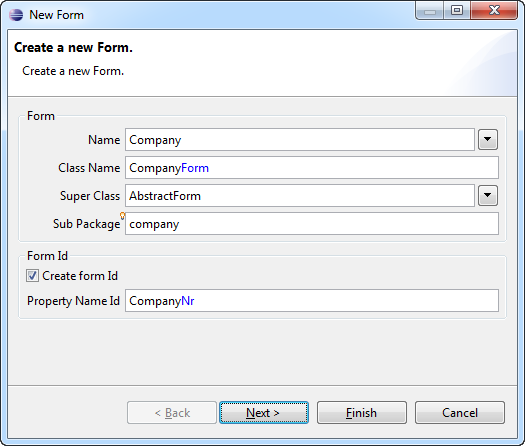 Create Company Form