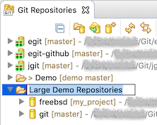 """Screenshot showing the inline renaming of repository groups in EGit 5.7.0."""