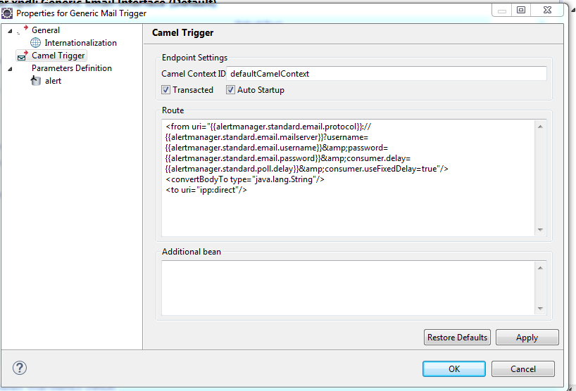 Camel Route: Dynamic Endpoint using PropertyPlaceholder
