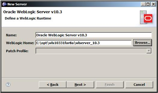 Eclipse weblogic server 103 screen2.jpg