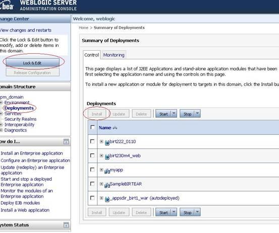 BirtPOJO Viewer WebLogic Deployment - Eclipsepedia