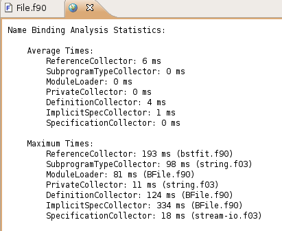 Example of the Display Binder Statistics refactoring